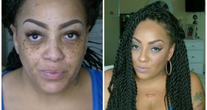 Before-After-Beauty-On-A-Budget-Cheap-Makeup-Senegal-Twist-Wig