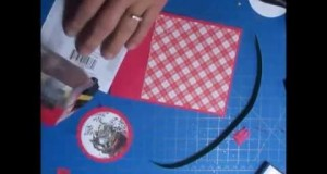 Santa Christmas Card Assembly Hack.  Tips, tricks and money saving ideas