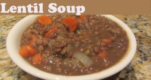 Vegetarian Vegan Lentil Soup Frugal Meal One Pot Recipes